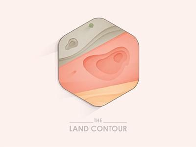 The Land Contour © yoga perdana map land contour contour illustration illustrator vector logo badge hexagon icon yp design type brand branding identity colors mark earth