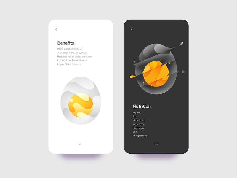 Egg nutrition mark brand gradient logo modern logo logo design logo designer logo branding spill liquid slash splash illustration ux ui app egg mobile