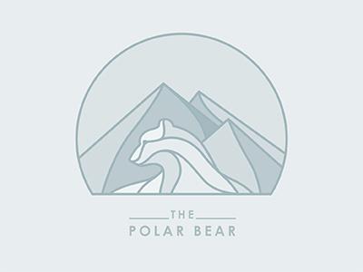 The Polar Bear © yoga perdana bear polar bear vector illustrator illustration mountain poster yp logo