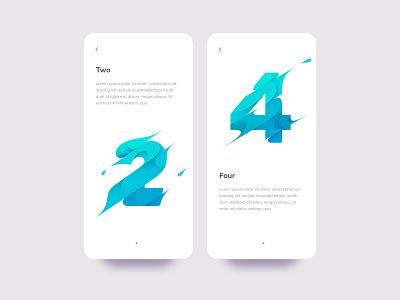 2 & 4 branding spill liquid water slash splash flat design flat illustration illustration icon app ux ui mobile 4 2
