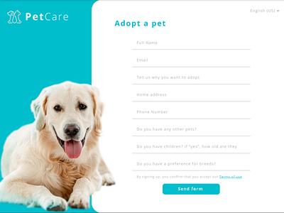 PetCare - Signup Form (UI Design) figma ux ui design dailyui