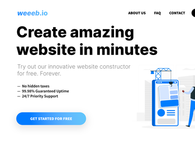 Daily UI. Day 3. Landing Page