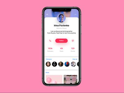 Daily UI. Day 6. User Profile day006 dailyui ux app ui
