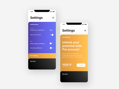 Daily UI. Day 7. Settings web typography design ux ui app day007 dailyui