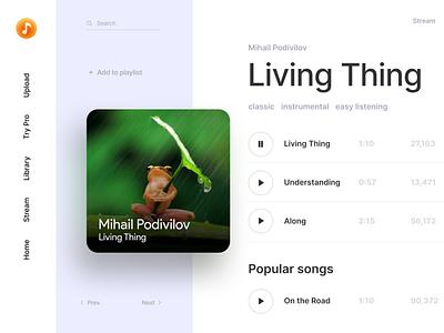 Daily UI. Day 9. Music Player ideas web app ux design ui dailyui