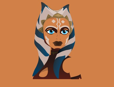 Ahsoka Tano geek vectors vectorartwork ahsokatano illustraion art illustrator illustration graphic design design vectorartist vector illustration starwars vector vectorart