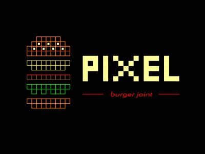Day 33, #dailylogochallenge colorful logo burger logo burger joint logo burger joint pixel logo pixel art pixel typographic adobe photoshop typography branding dailylogo disigner adobe logodesign adobeillustration dailylogochallenge illustration graphic design design