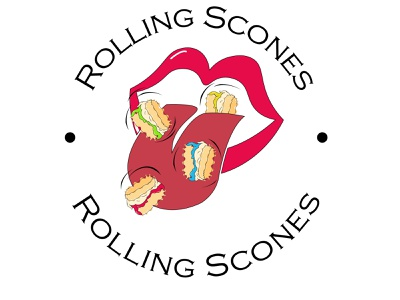 Day 44, #dailylogochallenge lipslogo lips mouth scones logo design logotype rolling scones adobe photoshop vector illustration art logodesign logochallenge vector adobeillustration logo illustration dailylogochallenge design graphic design