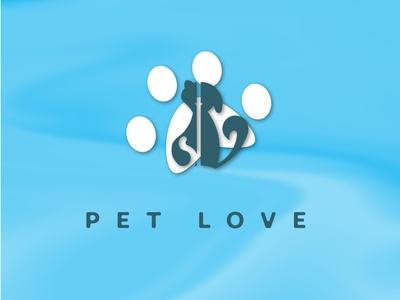 Pet Love typography logo branding dailylogo logodesign logochallenge adobeillustration design illustration graphic design
