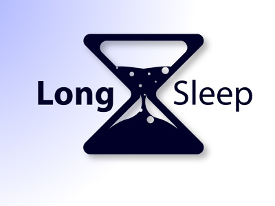 Long Sleep hourglass Logo hourglass logo golden ratio logo goldenratio logo dailylogo illustration adobeillustration design graphic design