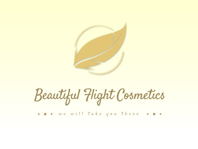 Beautiful Flight Cosmetics logo designer logo design concept designer typography vectorart logochallenge logodesign vector adobeillustration logo illustration design graphic design