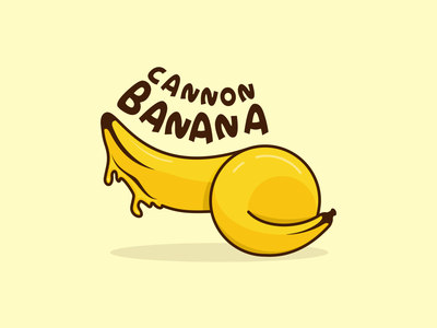 cannon banana minimal web typography ux ui illustration icon branding app animation design vector logo