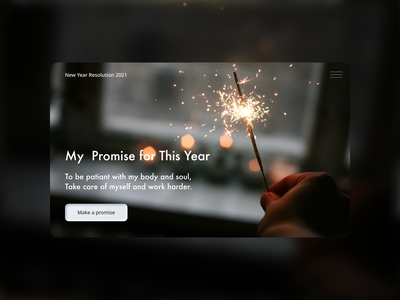 New Year Resolution typography figma ui first page website concept minimal website design web design concept