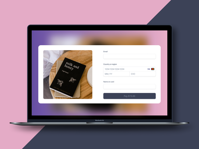 Checkout form - daily ui 002 minimal ui ecommerce credit card checkout figma design branding web concept dailyui dailyui 002
