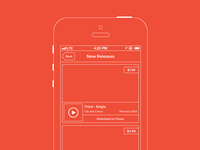 New Releases - iOS Wireframe