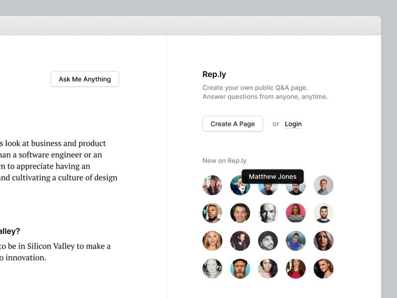 Introducing Rep.ly application design ux ui app web