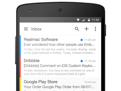 Android L Mail App android app mail nexus 5 device l android l application google material design