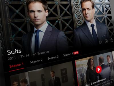 Netflix for iPad: Episode Feed