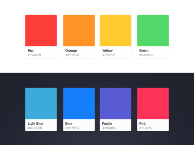 Color Palette Sketch Template