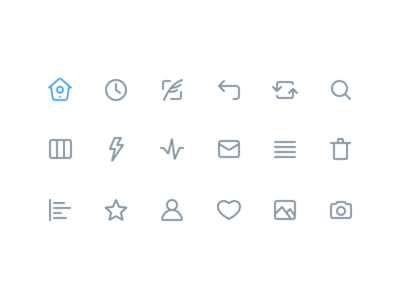 Twitter Line Icons (Made with Figma) made with figma iconography design ux line ui simple icon line icon icons figma