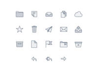 📬 Email Client Icons (Made with Figma)
