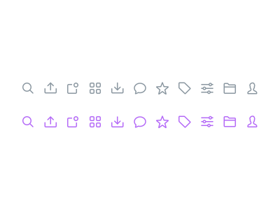 🔍 UI Icons (Made with Figma) lowprofile figma search 16px line icons sketch interface web app icons ux ui