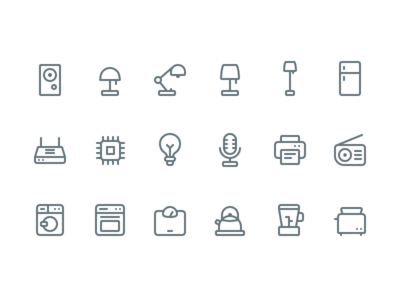 🏡 Appliance Icons (Made in @figmadesign)