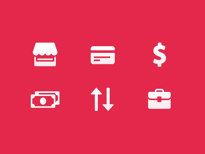 💰Money Icons (Made with Figma) lowprofile transfer android briefcase store ui ux ios app icons commerce money