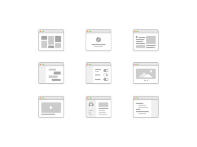 Wireframe Layouts (UX Kit)