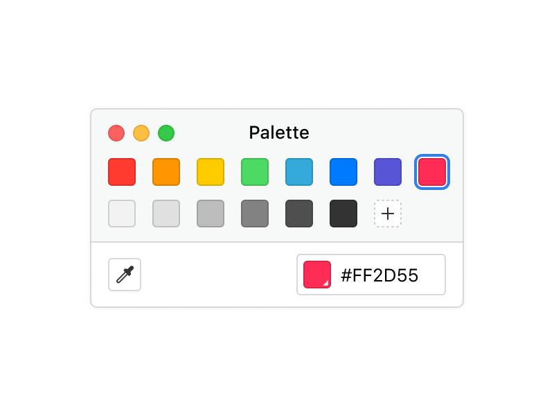 Palette white background
