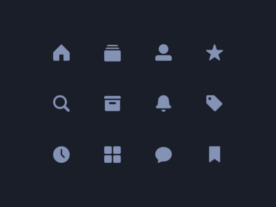 📱 Simple Navigation Bar Icons apple glyph simple icon ux ui ios tab bar icons