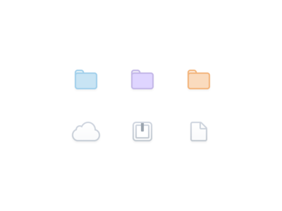☁️📄📁 File Icons