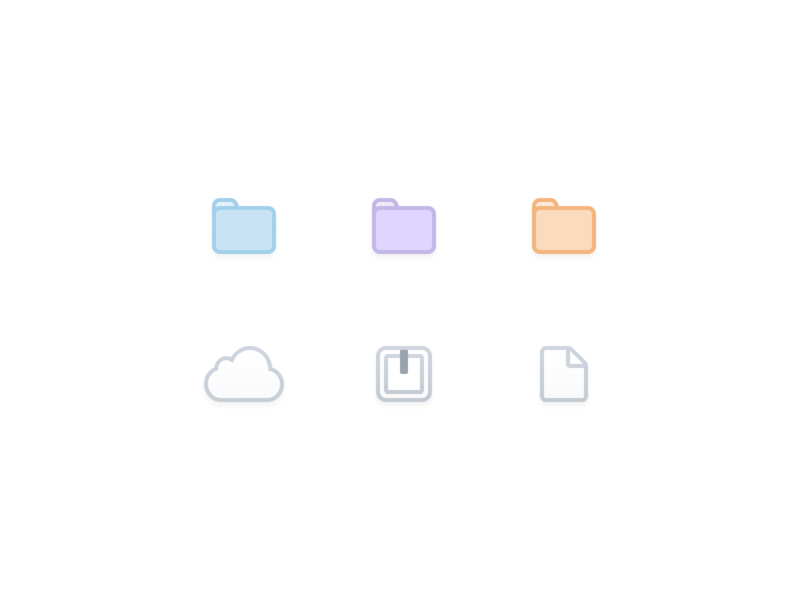 ☁️📄📁 File Icons lowprofile icon flat figma application icons web design ios app ux ui