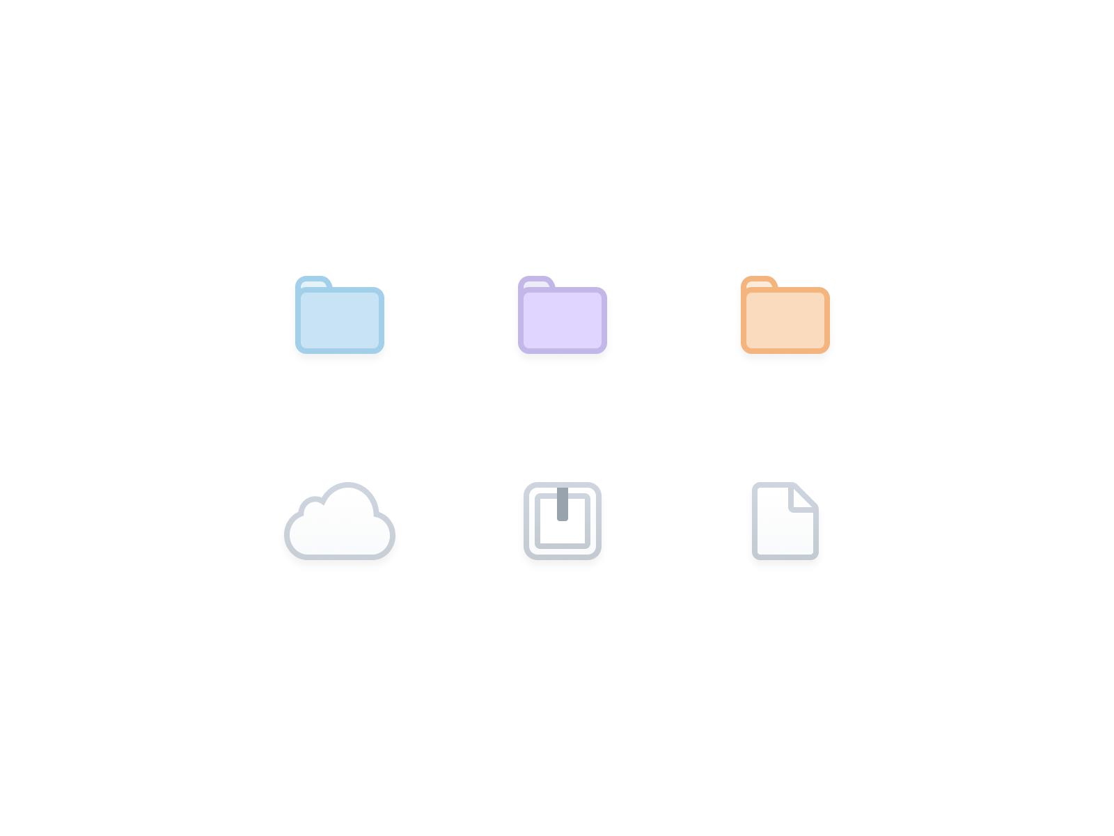 ☁️📄📁 File Icons icon flat figma application icons web design ios app ux ui