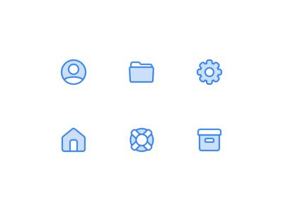 👨🏽💻🏠📂⚙️ Icons