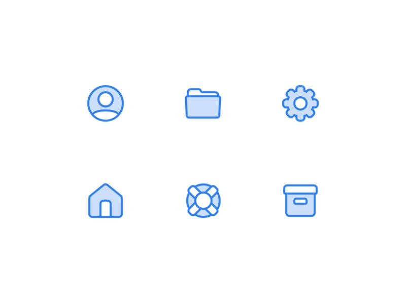 👨🏽💻🏠📂⚙️ Icons vector free freebie flat web figma icon icons ux app ui