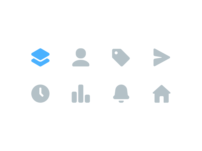 Navigation Icons vector icon flat web application icons ios app ux ui