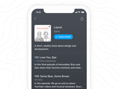 iOS Podcast Interface lowprofile podcast application icon icons design ios ux app ui