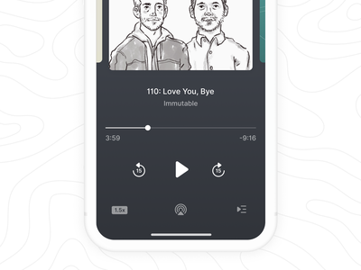 iOS Podcast Player lowprofile ui app ux ios design icons icon application podcast