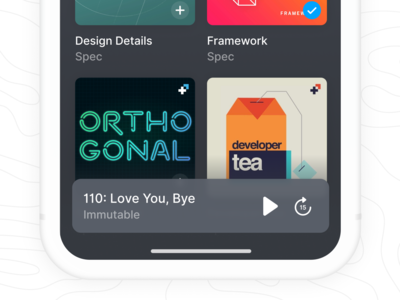 iOS Podcast Mini Player