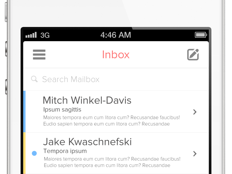 iOS Mail App iphone icon ios application ui flat app batch icons email menu