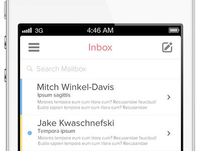 iOS Mail App iphone icon ios application ui flat app batch icons email menu