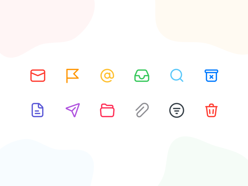 Mail Icons web mail trash vector folder file icons figma app ux design icons icon