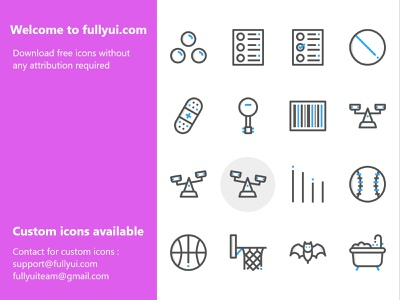 Template 11 fullyui icons basket ball net game weight bathtub bat basketball weight scale tablet clipboard ball