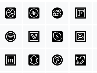 social media social networking connection social network spotify twitter pinterest snapchat dribbble icons free iconset social media socialmedia