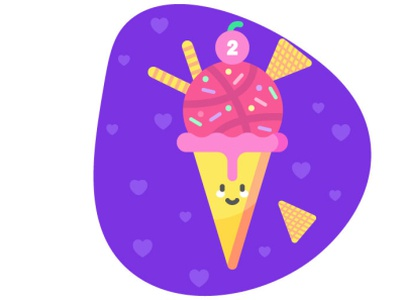 ice cream dribbble invite dribbble dribbble invites
