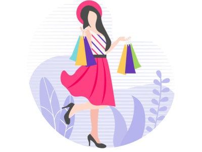 Shopping discount purchase shop designs vector enjoyment entertainment fun women illustration shopping