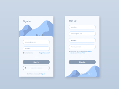 Daily UI - Sign Up ux ui adobe xd daily ui sign in sign up