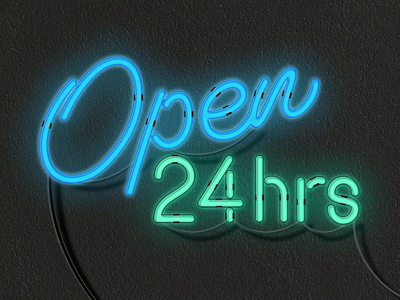 24th Anniversary Animation typography vector illustration loop animation neon sign neon after effects animation after effects designer graphic designer graphicdesign graphic design lighting lights light animated gif animation