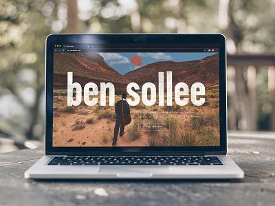 Website for Ben Sollee musician mobile design desktop design homepage website design websites web design website icon ux ui logo branding louisville graphic design designer design web